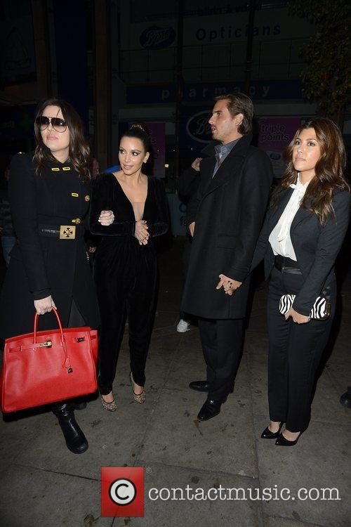 Kim Kardashian, Kanye West, Khloe Kardashian, Kourtney Kardashian, Scott Disick and Hakkasan 3