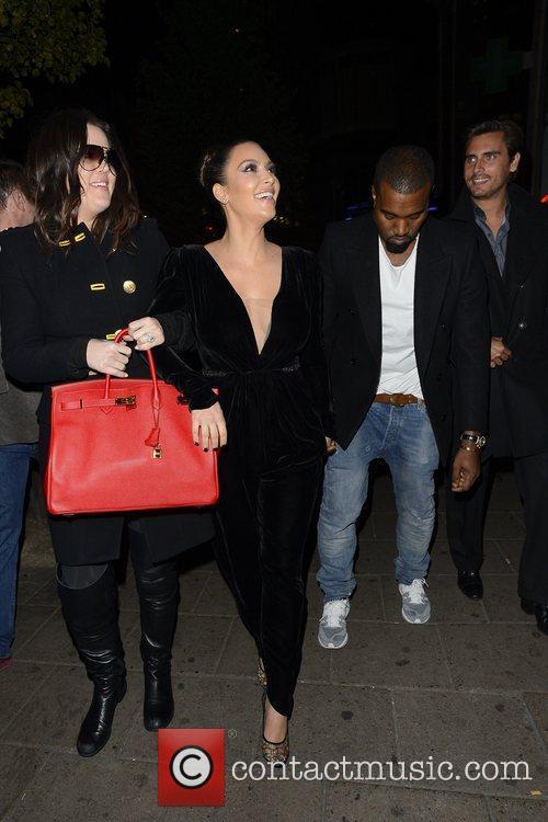 Kim Kardashian, Kanye West, Khloe Kardashian, Kourtney Kardashian, Scott Disick and Hakkasan 16