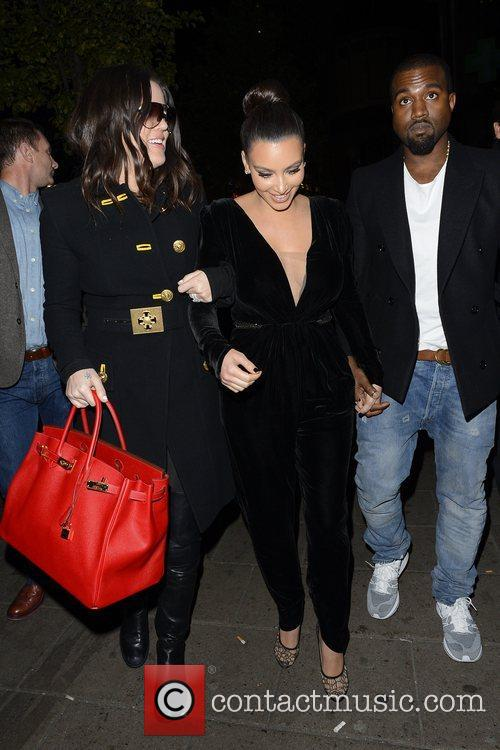 Kim Kardashian, Kanye West, Khloe Kardashian, Kourtney Kardashian, Scott Disick and Hakkasan 1