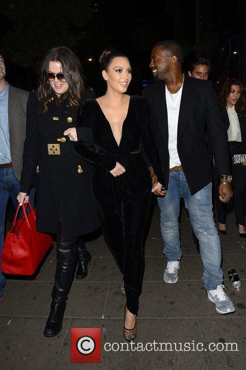 Kim Kardashian, Kanye West, Khloe Kardashian, Kourtney Kardashian, Scott Disick and Hakkasan 9