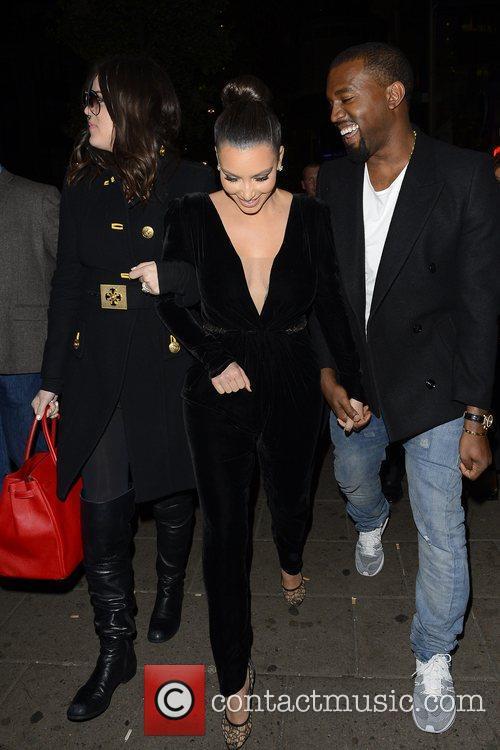 Kim Kardashian, Kanye West, Khloe Kardashian, Kourtney Kardashian, Scott Disick and Hakkasan 21