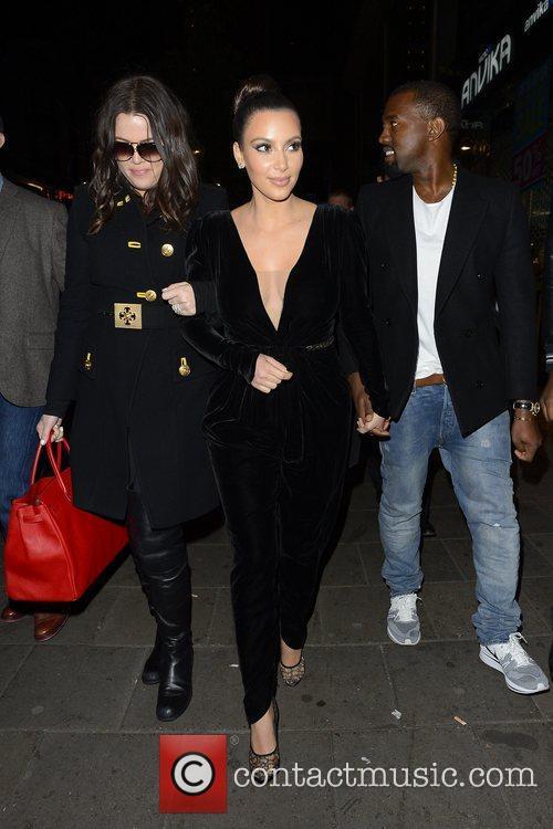 Kim Kardashian, Kanye West, Khloe Kardashian, Kourtney Kardashian, Scott Disick and Hakkasan 4