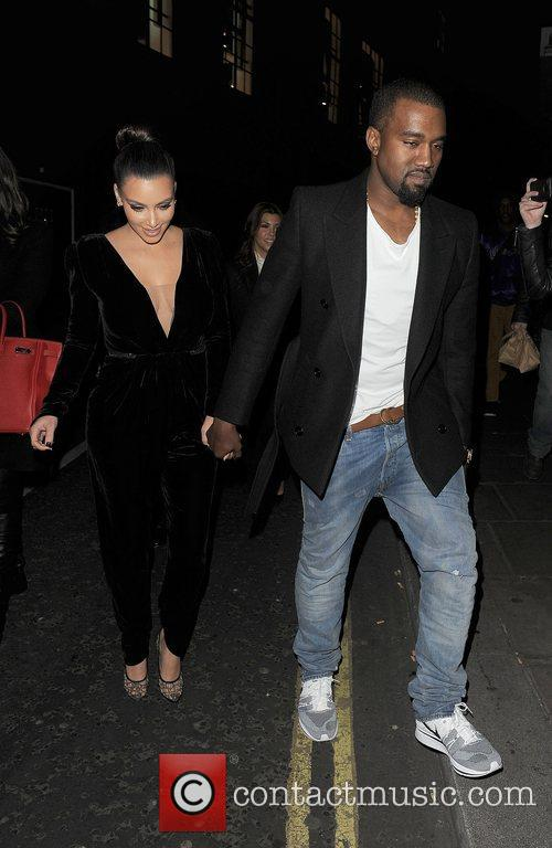 Kanye West, Kim Kardashian, Hakkasan, Tottenham Court Road. The and Sainsbury 6