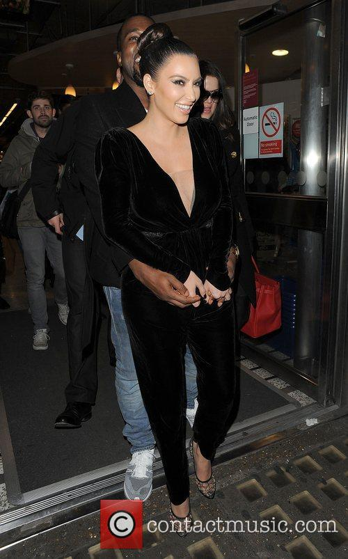Kanye West, Kim Kardashian, Hakkasan, Tottenham Court Road. The and Sainsbury 5