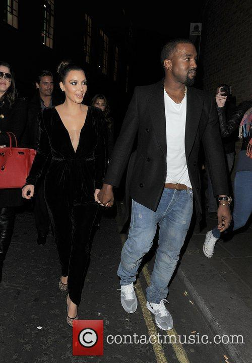 Kanye West, Kim Kardashian, Hakkasan, Tottenham Court Road. The and Sainsbury 1