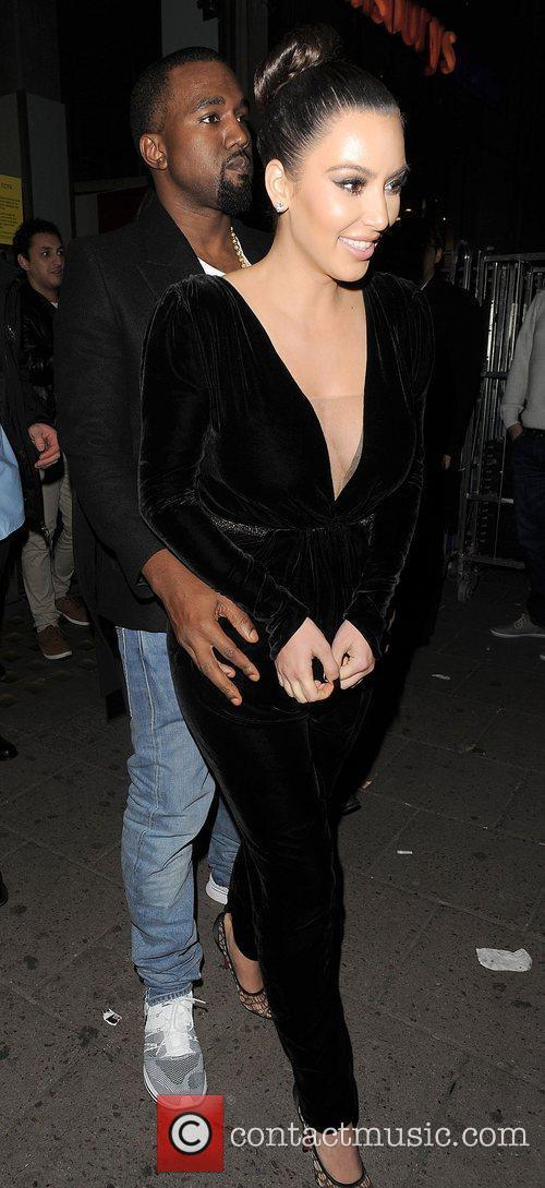 Kanye West, Kim Kardashian, Hakkasan, Tottenham Court Road. The and Sainsbury 12