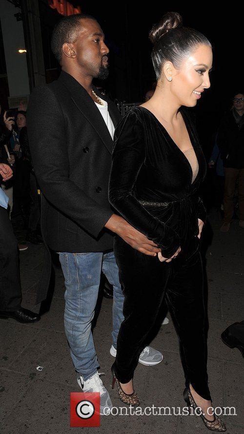 Kanye West, Kim Kardashian, Hakkasan, Tottenham Court Road. The and Sainsbury 11