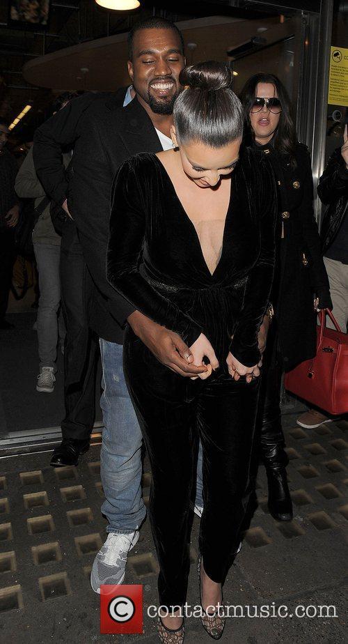Kanye West, Kim Kardashian, Hakkasan, Tottenham Court Road. The and Sainsbury 18