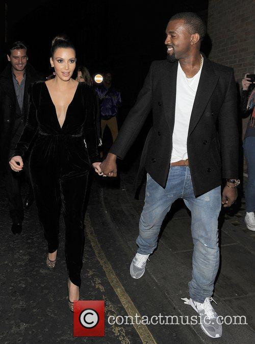 Kanye West, Kim Kardashian, Hakkasan, Tottenham Court Road. The and Sainsbury 7