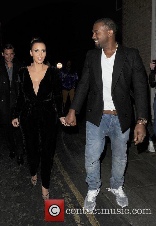 Kanye West, Kim Kardashian, Hakkasan, Tottenham Court Road. The and Sainsbury 16
