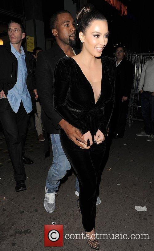 Kanye West, Kim Kardashian, Hakkasan, Tottenham Court Road. The and Sainsbury 3