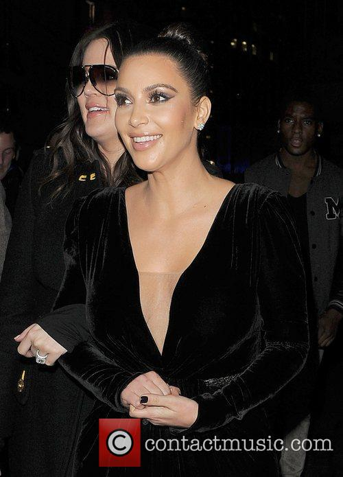 Khloe Kardashian, Kim Kardashian, Hakkasan, Tottenham Court Road. The and Sainsbury 1