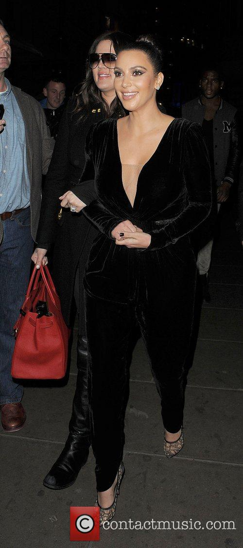 Khloe Kardashian, Kim Kardashian, Hakkasan, Tottenham Court Road. The and Sainsbury 5