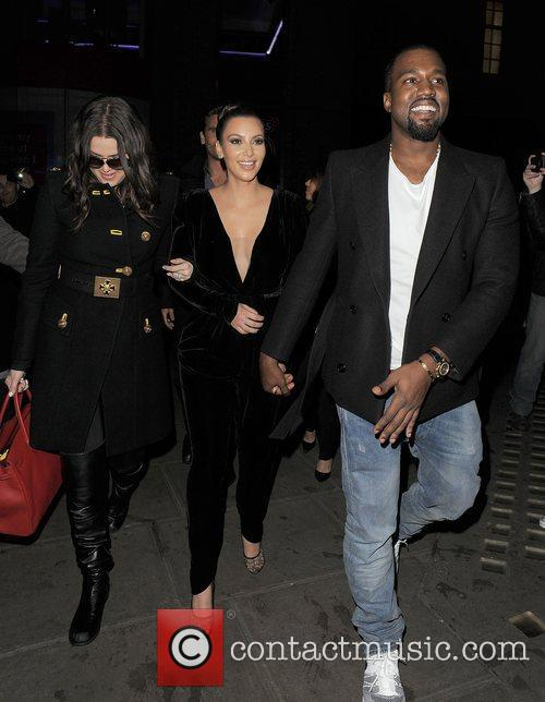Khloe Kardashian, Kim Kardashian, Kanye West, Hakkasan, Tottenham Court Road. The and Sainsbury 9