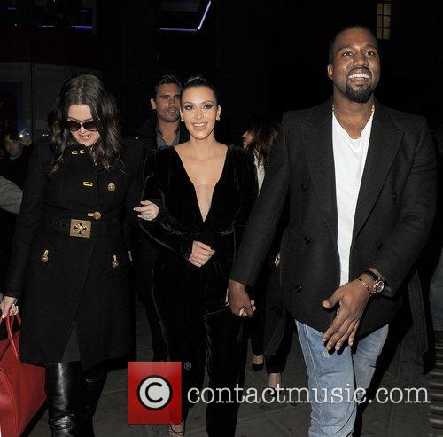 Khloe Kardashian, Kim Kardashian, Kanye West, Hakkasan, Tottenham Court Road. The and Sainsbury 10