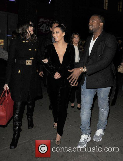 Khloe Kardashian, Kim Kardashian, Kanye West, Hakkasan, Tottenham Court Road. The and Sainsbury 6