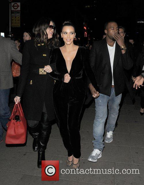 Khloe Kardashian, Kim Kardashian, Kanye West, Hakkasan, Tottenham Court Road. The and Sainsbury 8