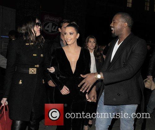 Khloe Kardashian, Kim Kardashian, Kanye West, Hakkasan, Tottenham Court Road. The and Sainsbury 1