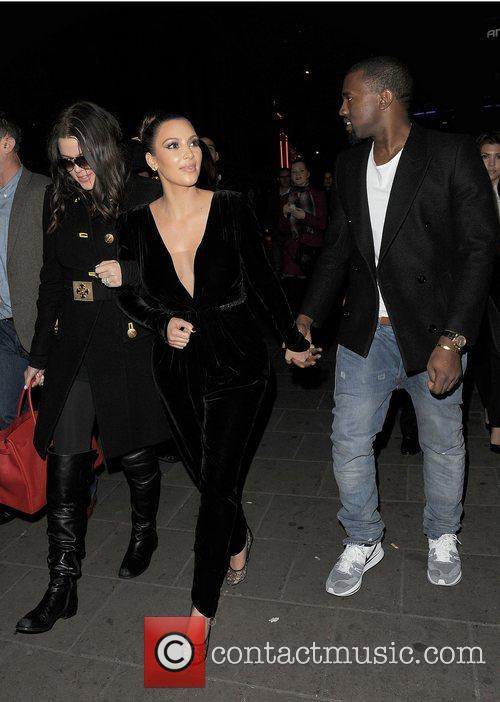 Khloe Kardashian, Kim Kardashian, Kanye West, Hakkasan, Tottenham Court Road. The and Sainsbury 5
