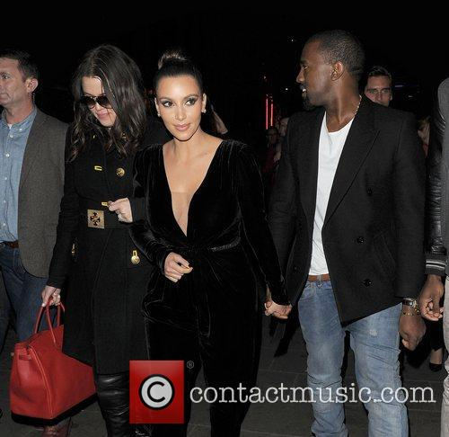 Khloe Kardashian, Kim Kardashian, Kanye West, Hakkasan, Tottenham Court Road. The and Sainsbury 11
