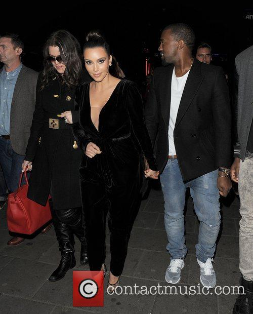 Khloe Kardashian, Kim Kardashian, Kanye West, Hakkasan, Tottenham Court Road. The and Sainsbury 3