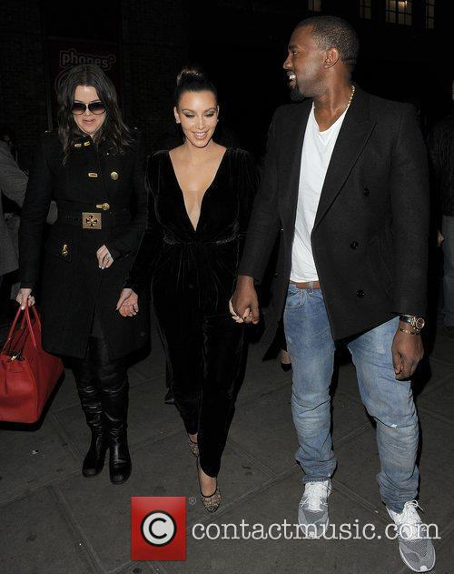Khloe Kardashian, Kim Kardashian, Kanye West, Hakkasan, Tottenham Court Road. The and Sainsbury 7