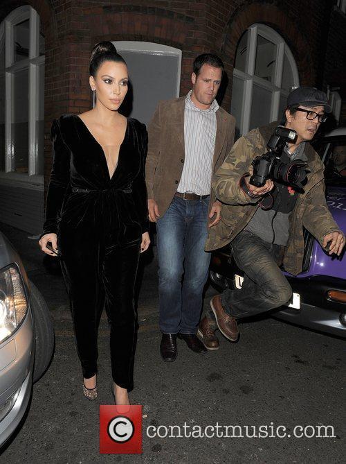 kim kardashian arriving at hakkasan restaurant following 4168794
