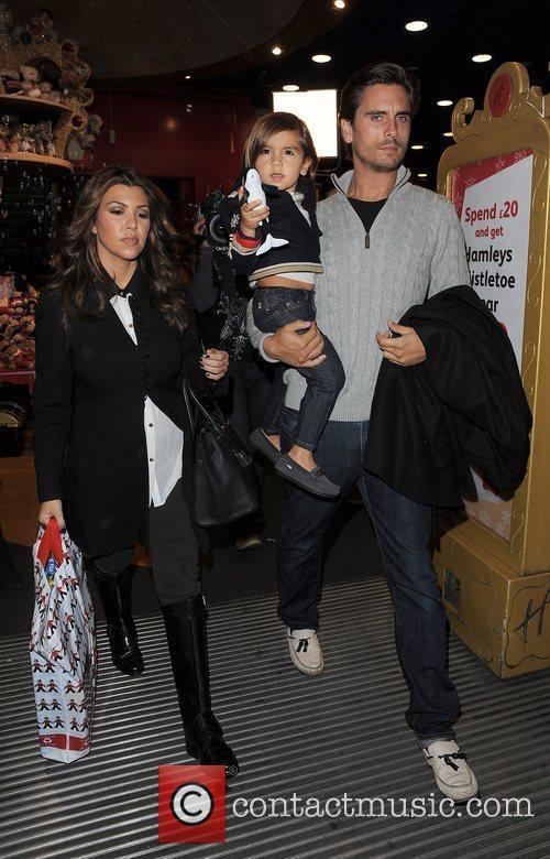 Kourtney Kardashian, Hamley, Scott Disick and Mason 13