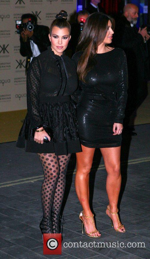 Kourtney Kardashian and Kim Kardashian 1