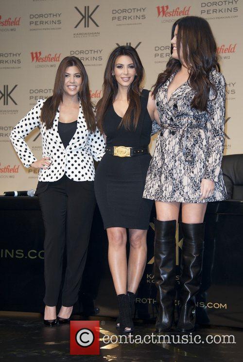 Kourtney Kardashian, Khloe Kardashian Odom and Kim Kardashian 3