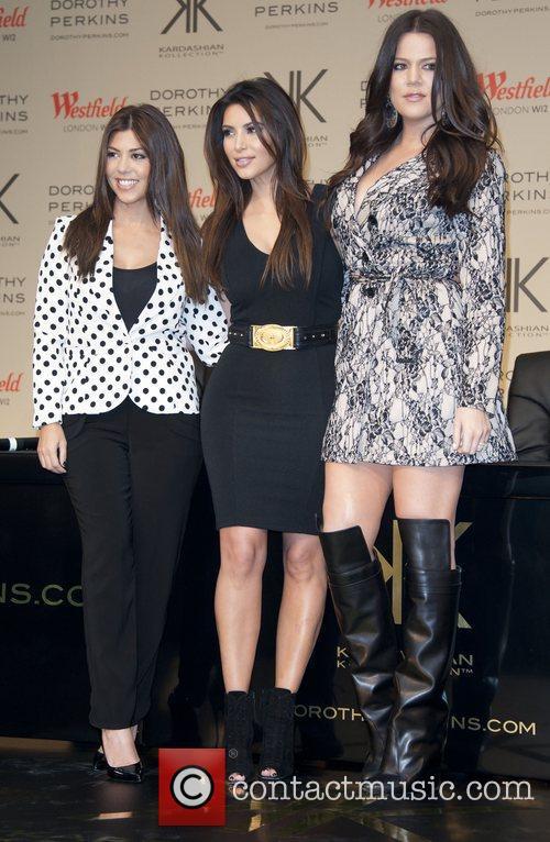 Kourtney Kardashian, Khloe Kardashian Odom, Kim Kardashian The...