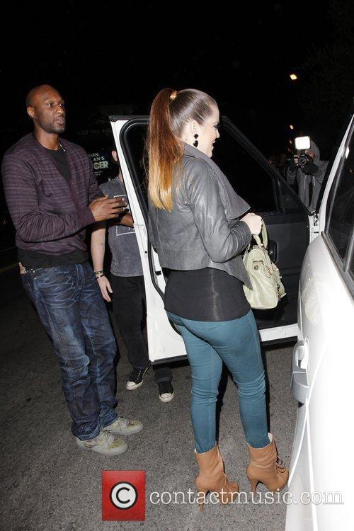 khloe kardashian and lamar odom leaving little 3636691