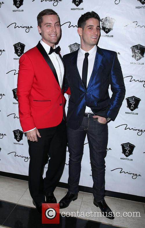 Lance Bass and Guest At 1 Oak Nightclub...