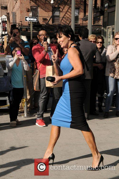 Kris Jenner leaving her hotel in the Meatpacking...