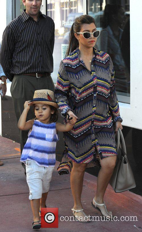 Members of the Kardashian family out and about...