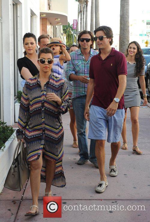 Scott Disick, Kourtney Kardashian, Khloe Kardashian Mason Disick and Jonathan Cheban 2