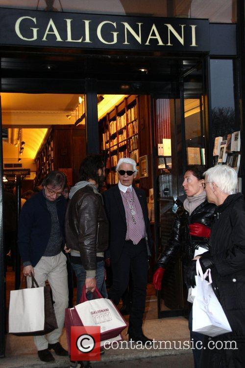 karl lagerfeld leaves the galignani book store 3762448