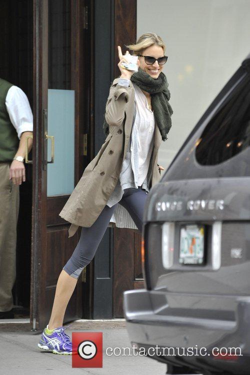 Karolina Kurkova is seen heading out for a...
