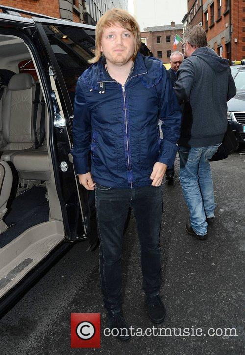 Chris Edwards of Kasabian leaving his hotel on...