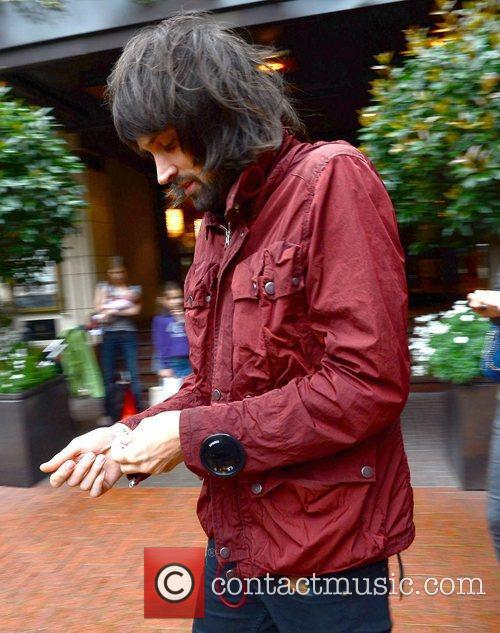 Sergio Pizzorno of Kasabian leaving his hotel on...