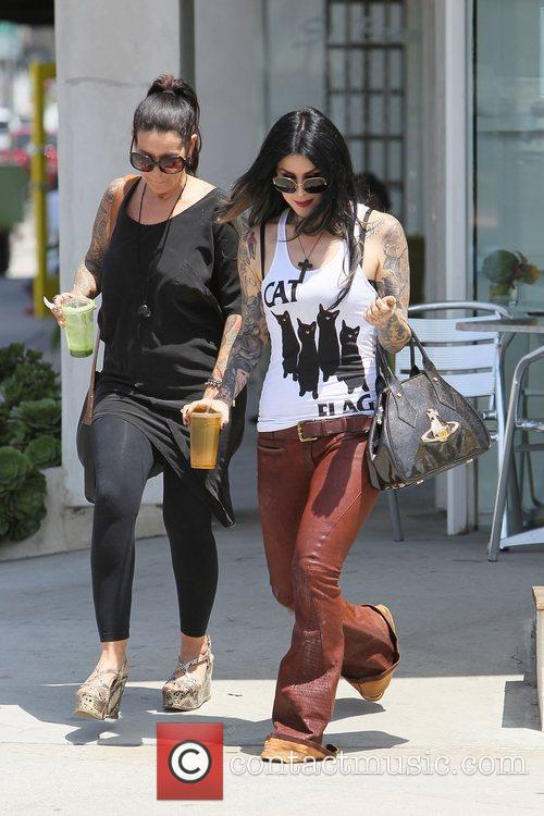 Kat von D leaving a juice bar in...