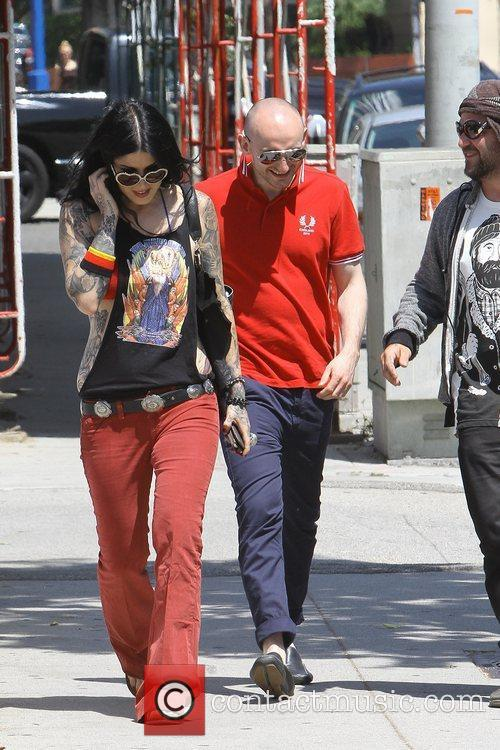 Kat Von D seen out and about in...