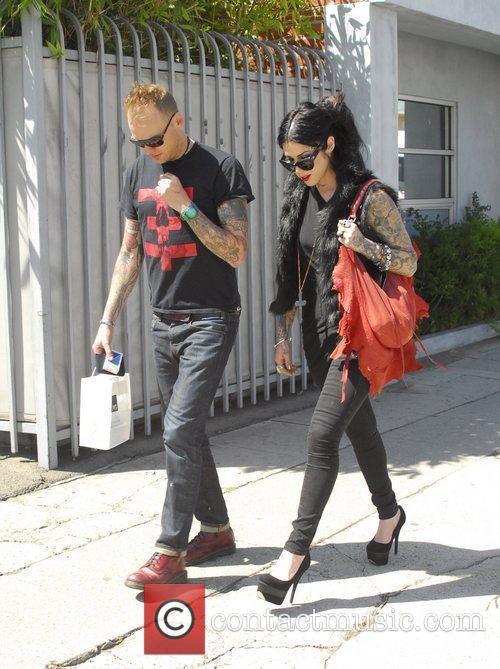 Kat Von D and a friend leaving Joan's...