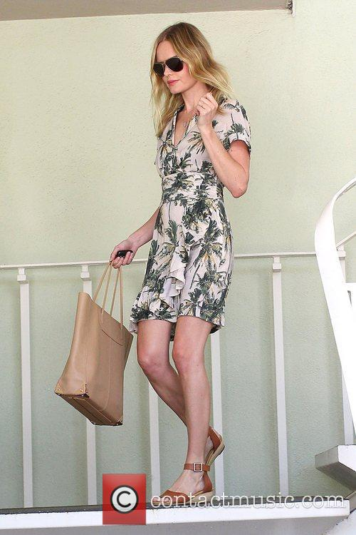 Kate Bosworth shopping in a palm tree printed...