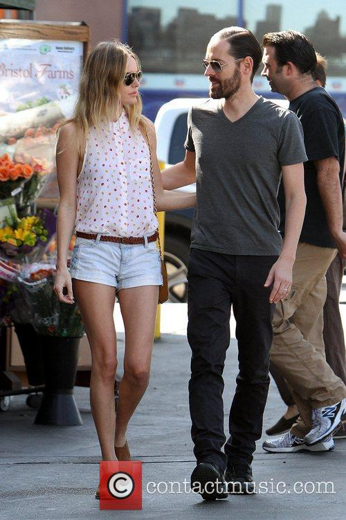 Actress Kate Bosworth and fiance Michael Polish head...