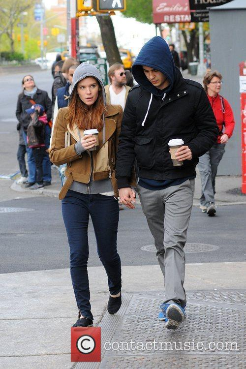 Kate Mara and her boyfriend out and about...