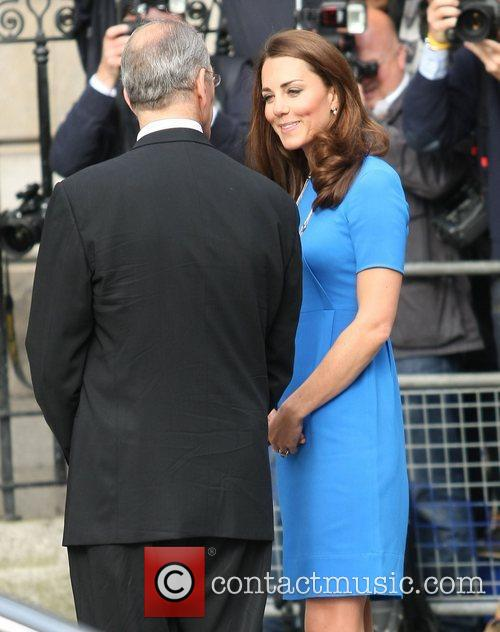 Catherine, Duchess of Cambridge, aka Kate Middleton arriving...