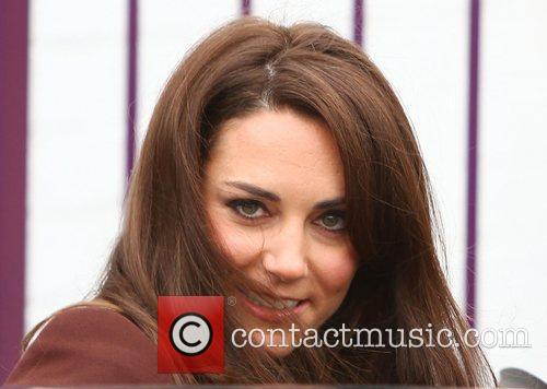 Catherine, Duchess of Cambridge aka Kate Middleton leaving...