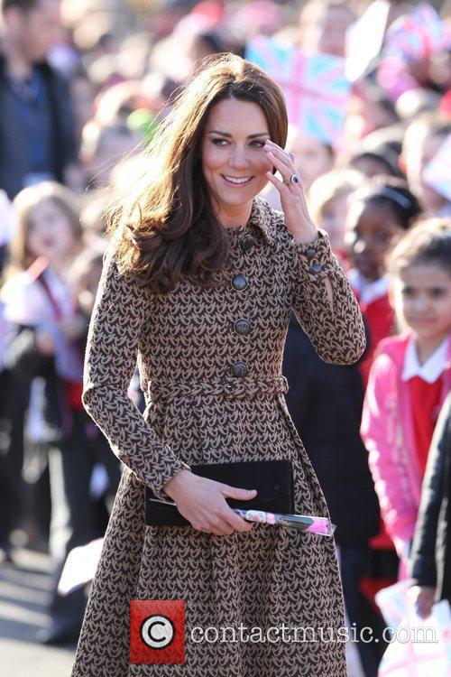 Catherine, Duchess of Cambridge aka Kate Middleton arrives...