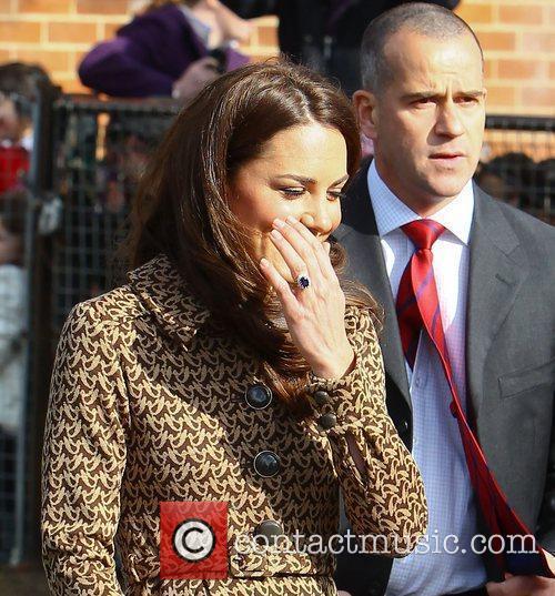 Catherine, Duchess of Cambridge aka Kate Middleton leaving...